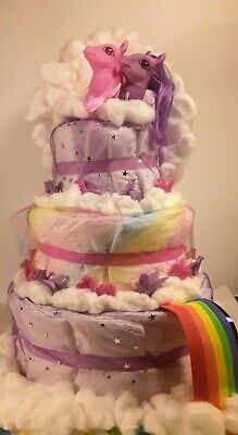 3 Tier Diaper Cake Mommy/'s Little Man Dashing Mustache Baby Shower Centerpiece
