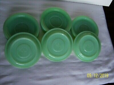 16 Anchor Hocking Fire King Ware,Jadeite,Restaurant Saucers,No Chips/Cracks