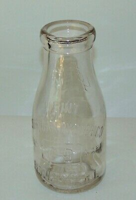 RARE ANTIQUE Glass Bottle AMERICAN OYSTER Pint PROVIDENCE RI