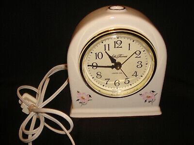 Seth Thomas Fanciful 9207 Lighted Dial Porcelain Floral Electric Mantel Clock