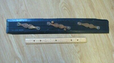 Antique Ebony Wood Parallel Rule Capt Field's navigation ruler tool