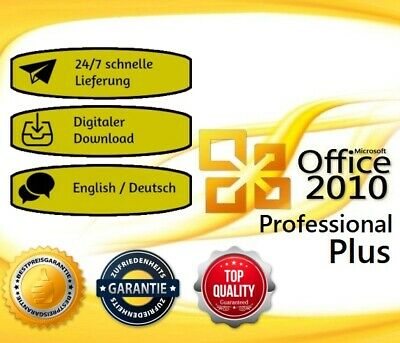 Office 2010 Pro Plus Microsoft® Office® ✓ Product key ✓English/Deutsch ✓ 32/64