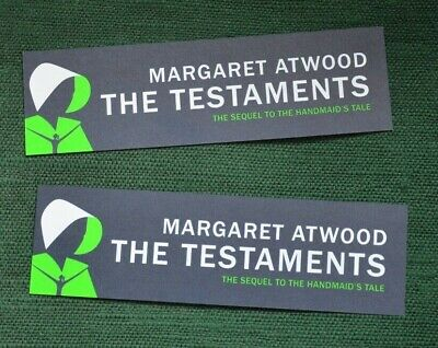 Margaret Atwood, 2 x bookmarks for Testaments book