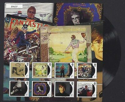 Great Britain 2019 Elton John Collection Fan Sheet No.9637 Fine Used