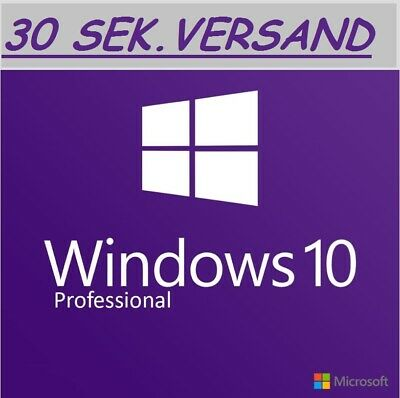 MS Windows 10 Professional Key Schlüssel win 10 pro Key DE Blitzversand E-Mail