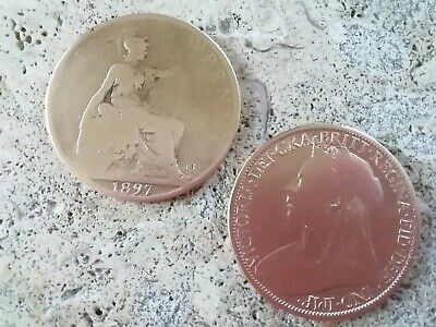 1896 and 1899 British Penny Coins, Two QueenVictoria Collectors Pieces