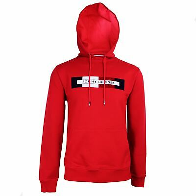 Tommy Hilfiger Tommy Logo Hoodie Haute Red