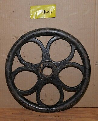 "Antique valve hand wheel industrial 13 1/2"" diameter collectible steam punk HW5"