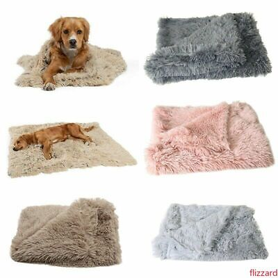 Small Large Soft Blanket Cosy Warm Pet Dog Cat Animal Blanket Throw Mat S-L UK