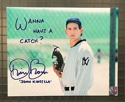 """Dwier Brown Signed 8x10 FIELD OF DREAMS Photo w Hologram """" Wanna have a Catch? """""""