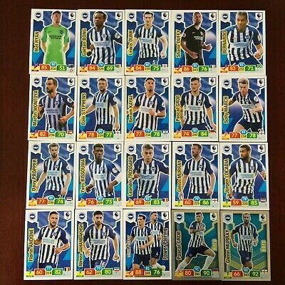 Panini Adrenalyn Xl Premier League 2019/20 Brighton 20 Card Base/Hero Set