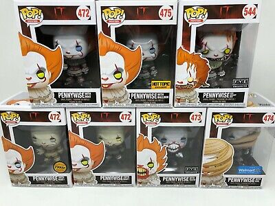 Funko POP! Movies IT Pennywise Chase, Variants and Exclusives Lot of 7 Protector