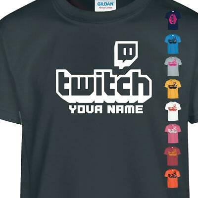 TWITCH Kids T-shirt TV Gaming Personalized Youtube Stream Vlogger Tee Top