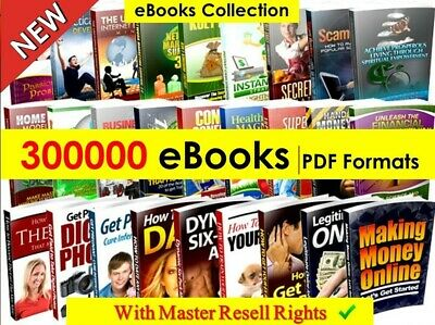 300000+ eBooks Package Collection  With Master Resell Rights /Pdf Format