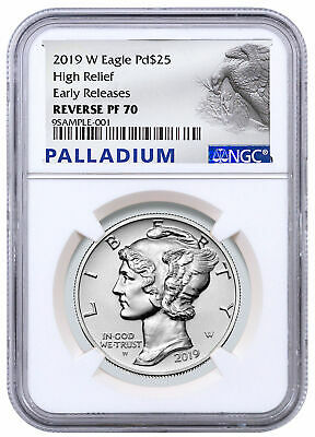 2019 W 1 oz HR Palladium Eagle Reverse Proof $25 NGC PF70 ER PRESALE SKU59105