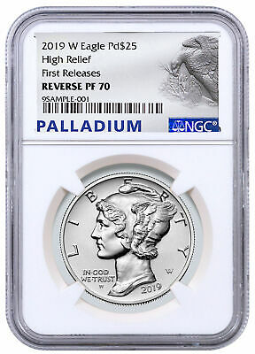 2019 W 1 oz HR Palladium Eagle Reverse Proof $25 NGC PF70 FR PRESALE SKU59107
