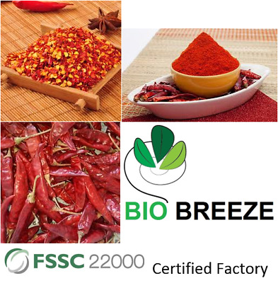 100 % NATURAL RED PEPPER/ CHILI BEST QUALITY - FOB 6.95 USD per kg