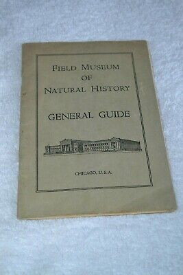 Vtg 1941 General Guide Field Museum of Natural History Chicago IL Booklet