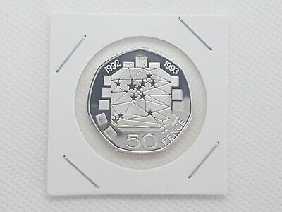EEC 50 Pence 50p coin 1992 1993 UK Presidency Dual Date silver Proof filler coin