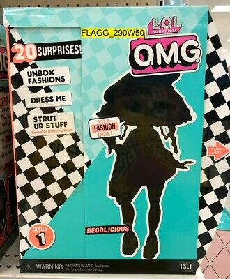 "LOL SURPRISE! OMG 11"" Fashion Doll *NEONLICIOUS* L.O.L. Series 1 IN HAND"