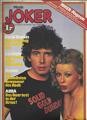 Musik Joker Nr.7 vom 21.3.1977 Gunter Gabriel, Abba, Boston, Peter Maffay..- TOP