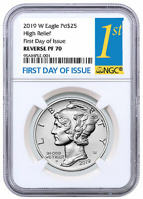 2019 W 1 oz HR Palladium Eagle Reverse Proof $25 NGC PF70 FDI PRESALE SKU59270