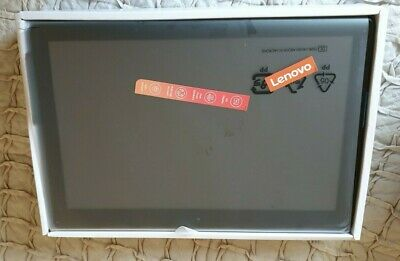 Black Lenovo Tab E10. Used once. Boxed in original packaging.