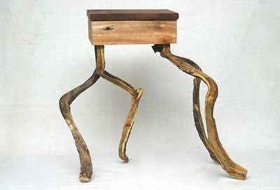 Small Dancing Stool from Fundstücken Upcycling Old Wood Wild Wood Robinia