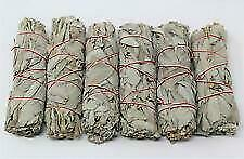 """White Sage Smudge Stick 4"""" - 5"""" 6 pack, Herb House Cleansing Negativity Removal"""