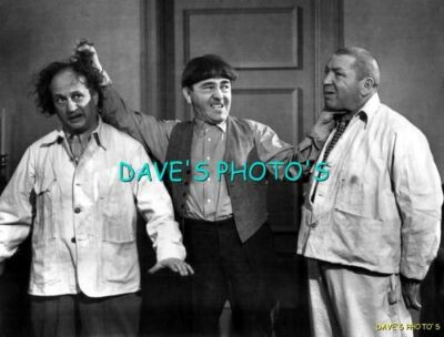 Nice 8X10 B&W Photo of the 3-Stooges    Free Shipping