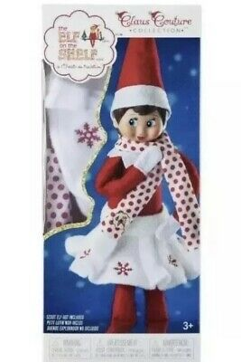 Elf on the Shelf Snowflake Skirt and Scarf Claus Couture Collection Outfit New