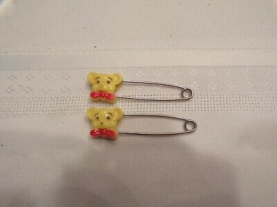 Vtg Gerber Diaper Pins Teddy Bears