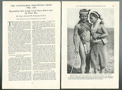 1930 the PHILIPPINES magazine article, natives etc, early aerial photography