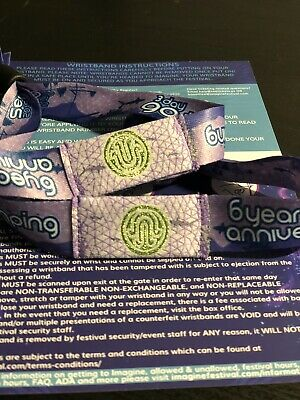 Imagine Music Festival wristbands. 4 Days GA with 3 Days camping.