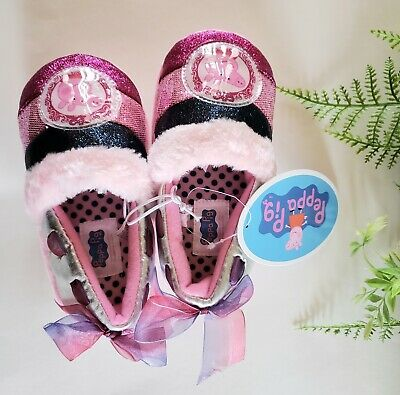 Peppa Pig comfy fuzzy slippers for little girls Pink Super Cute and Stylish