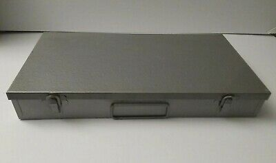 Filing Box For Storing Photographic Slides Metal Holds 150 Slides Used