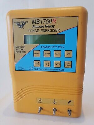 Pre Owned Serviced 135km Thunderbird Mains Battery Powered Electric Fence...