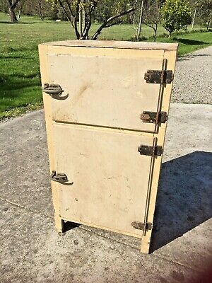 Antique Wooden Ice Chest Ripe to Restore