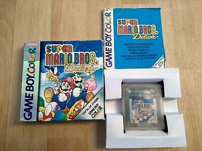 Super Mario Bros Deluxe - Gameboy Color - Boxed - Instructions - Tested