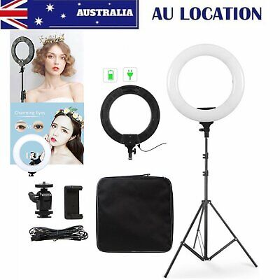 "14"" 5600K Dimmable Diva LED Ring Light w/ Stand Make Up Studio Video Photography"