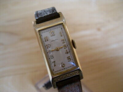 VINTAGE 1930s ART DECO  GRUEN CONORUM GOLD FILLED MENS WATCH