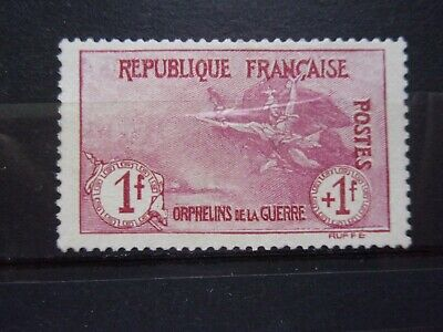 France N° 154 Orphelin Neuf Gomme Sans Charniere Ni Trace Signe Scan Recto Verso