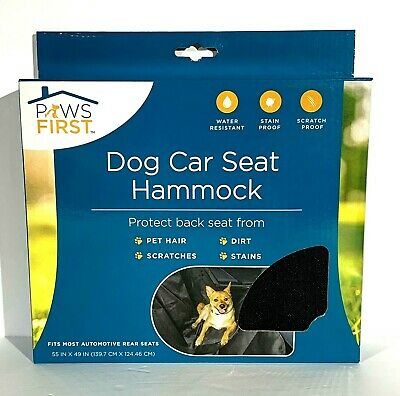 Paws First Dog Car Seat Hammock 55x49 Puppy Dog Water Stain Resistant Seat Cover
