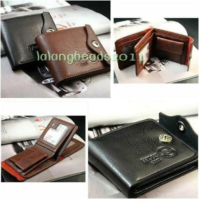 Mens Luxury Soft Business Leather Bifold Wallet Credit Card Holder Purse La
