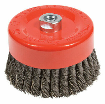 Forney  6 in. Dia. x 5/8 in.  Steel  Cup Brush  1 pc. Knotted