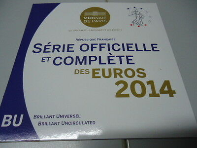 Francia 2014 - Officiale KMS Set Monete in Stgl. Completo