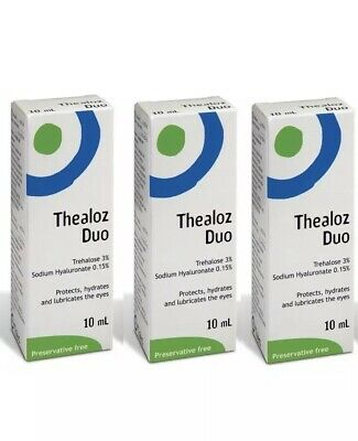 3x Thealoz Duo 10ml Spectrum Thea Preservative Free for Dry Eyes