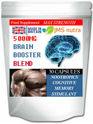 Brain Power Blend 5000mg Nootropics Cognitive Memory Focus Enhancer Pills
