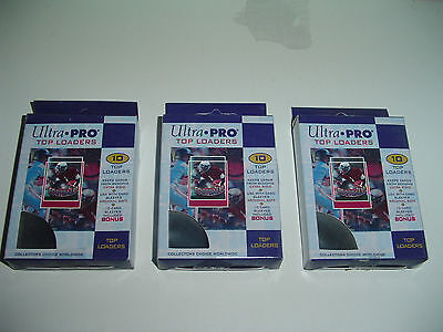 30 Ultra Pro Top Loaders Trading Cards supplies protector 10 per Pack w sleeves