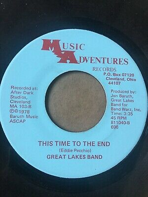 """Rare Rock 45/ Great Lakes Band """"This Time To The End""""  VG++  Hear!"""